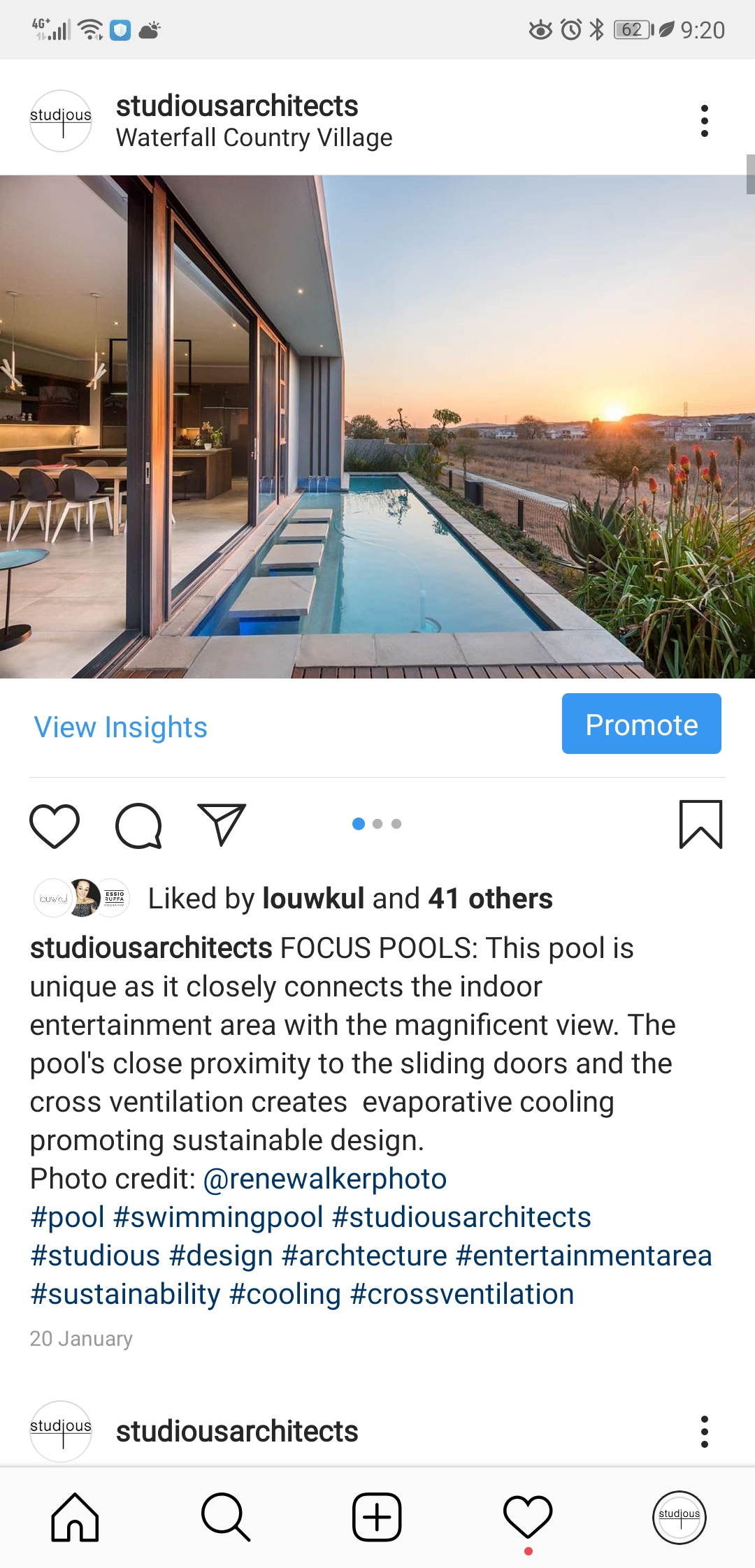 Studious Architects Page Instagram